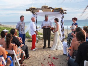 Kylie and Dave's fun surf wedding