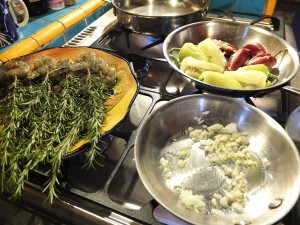 Cooking - Appetizers on Stove