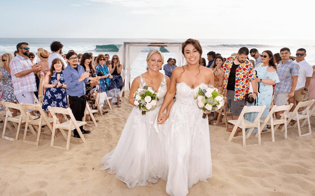 beachfront gay wedding ceremony Mexico