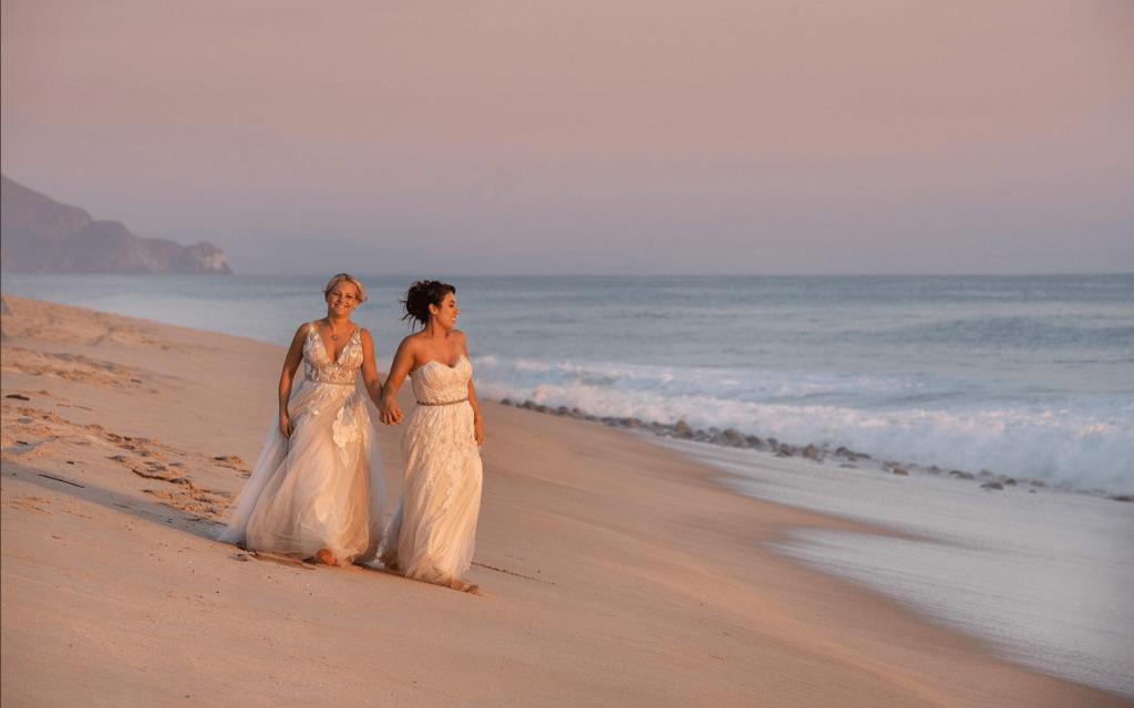 gay wedding todos Santos beach